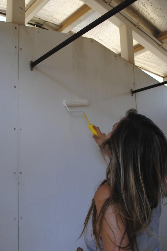 WOOFing painting a caravan