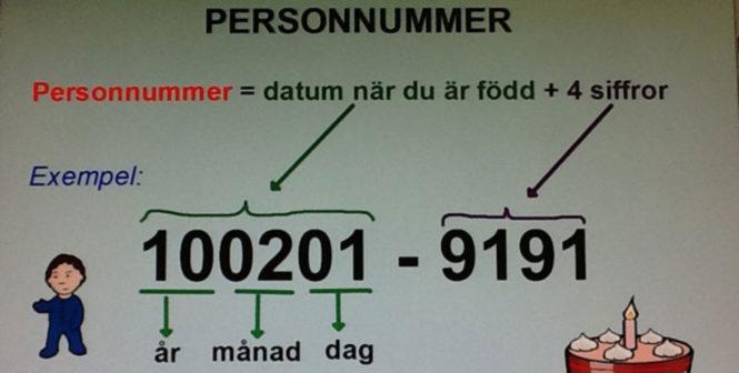 personnummer sverige