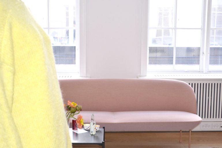 showroom mode canapé rose