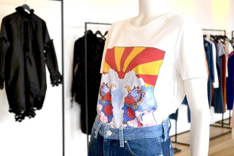 t shirt jean mannequin mode