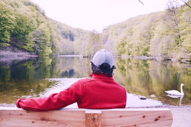 hiking in sweden lake