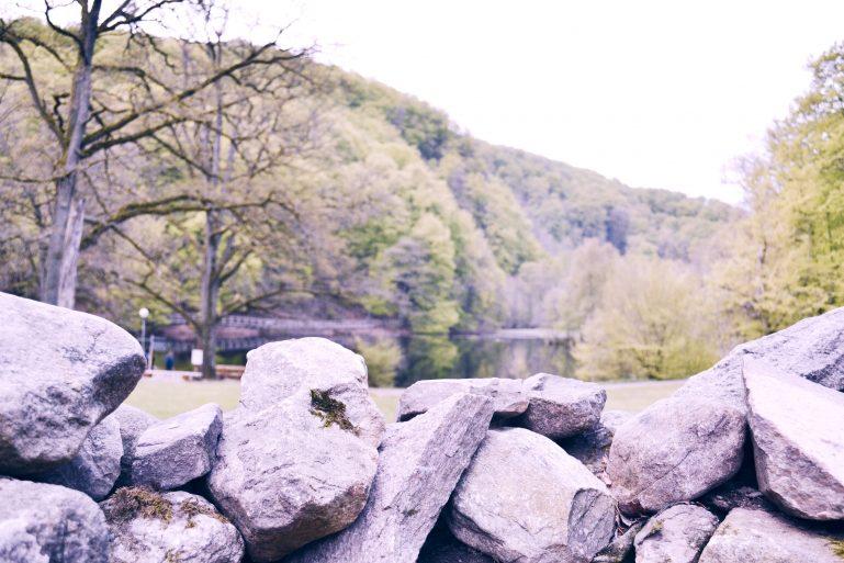 rocks sweden lake