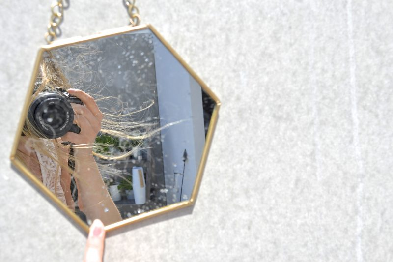 miroir de jardin