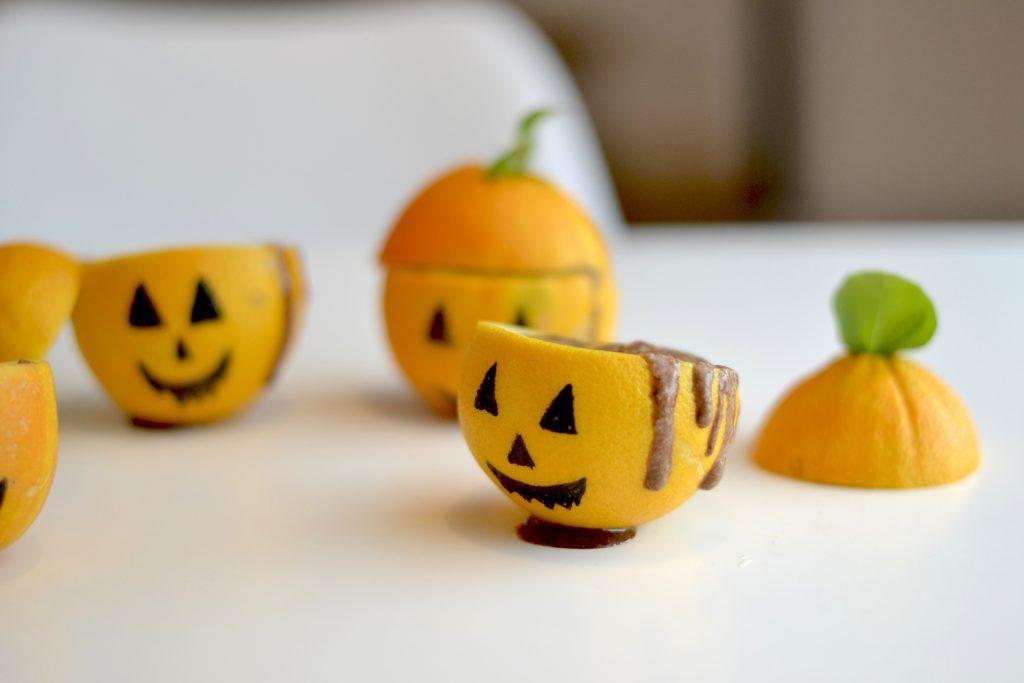 Mousse au chocolat version halloween