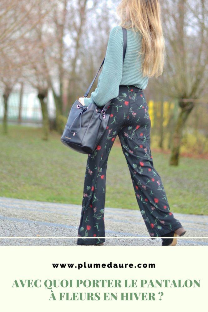 Avec quoi porter un pantalon à fleurs en hiver ? Recyclage dressing.
