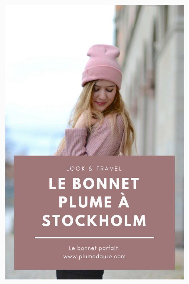 Un look tout rose et chaud dans la jolie ville de Stockholm