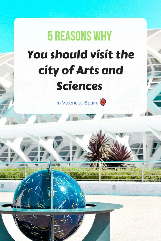 5 reasons you must visit the city of Arts and Sciences in Valencia, Spain ! A real architectural feat ! A place to stroll around, to have fun and to educate with family, perfect for photography lovers, art lovers... Read the full article!