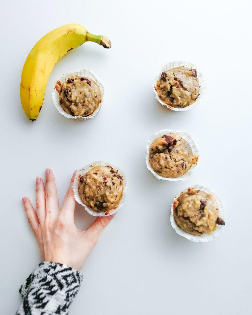 muffins banane chocolat faciles