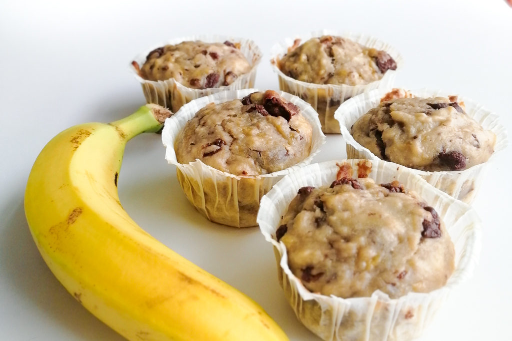 My choco banana muffins recipe : delicious and (quite) healthy !