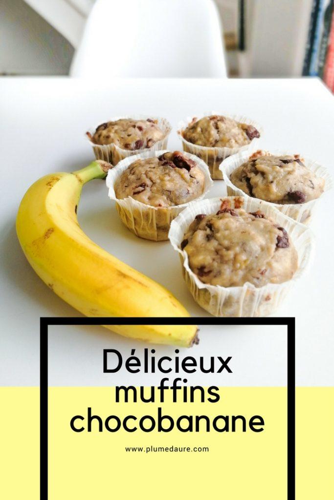 muffins banane chocolat recette facile