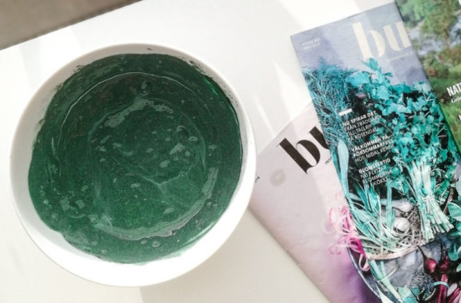 DIY hair mask with spirulina