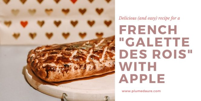 Recipe for a French galette des rois with apple