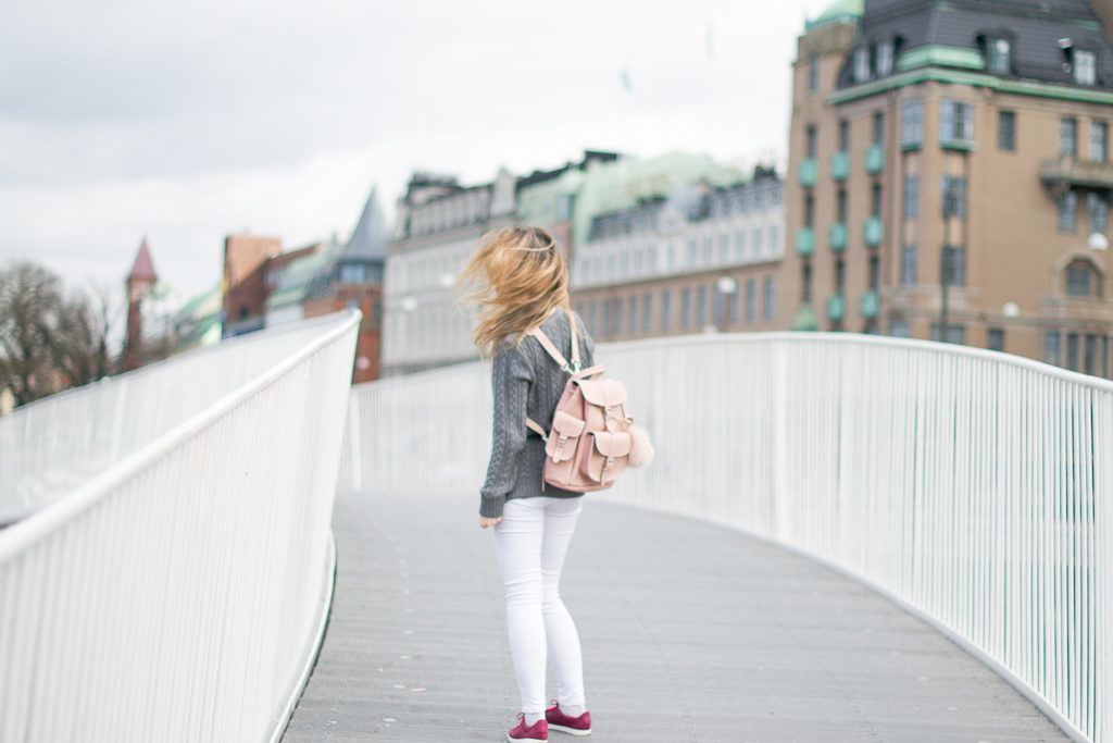 Pink and pastel crush leather bag